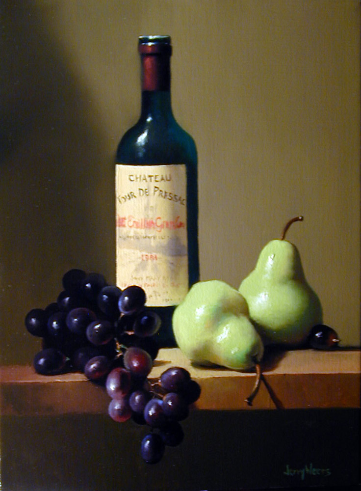 Jerry weers still life oil paintings for Paint vino